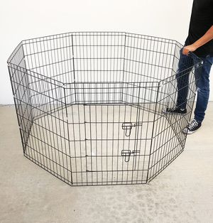 """$40 NEW Foldable 36"""" Tall x 24"""" Wide x 8-Panel Pet Playpen Dog Crate Metal Fence Exercise Cage for Sale in Pico Rivera, CA"""