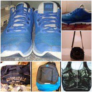 Size 8 Nike flex aero gym bag Adidas backpack liz Claiborne st John's bay handbags for Sale in Springfield, OH