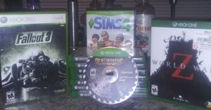 8# XBOX. ONE GAMES & 2 wireeless controllers Plus 1 Xbox 360 game for Sale in Lancaster, CA