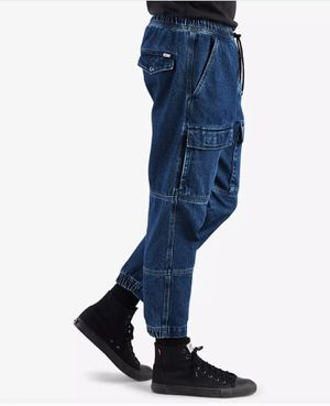 *NEW* Men's Levi's Blue Denim Utility Cargo Pocket Tapered Jogger Pants. Medium M. Large L. 2xl/ XXL. for Sale in Pomona, CA