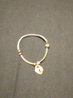 Brown beaded bracelet with lock charm for Sale in Wichita, KS
