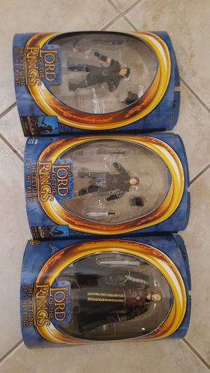 """LORD OF THE RINGS ACTION FIGURES """"FRODO"""", """"SAMWISE GAMGEE"""", """"EOMER"""" for Sale in Escondido, CA"""