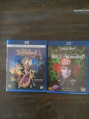 2 Disney 3D blu ray movies for Sale in McKinney, TX