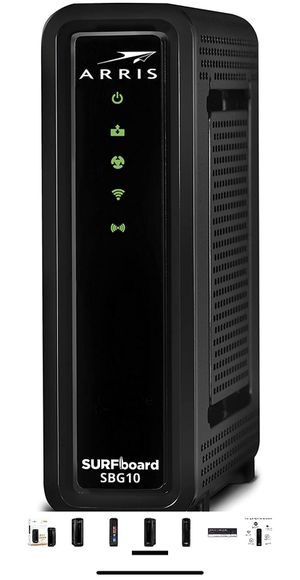 ARRIS SURFboard SBG10 DOCSIS 3.0 Cable Modem & AC1600 for Sale in Coconut Creek, FL