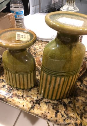 Green candle holders for Sale in San Diego, CA