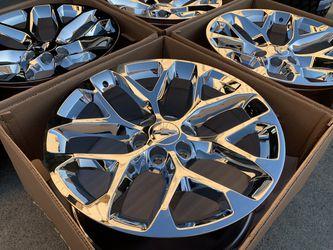 "22"" Chevy Silverado Wheels Tahoe Suburban LTZ GMC Sierra Yukon Rims for Sale in Rio Linda,  CA"