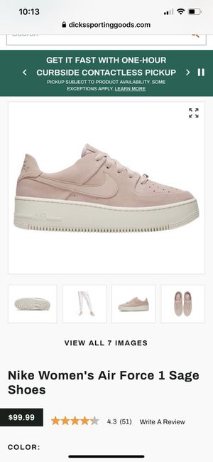 Nike Air Force shoes women size 7 for Sale in Bellevue, WA