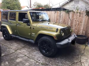 2007 Jeep Wrangler Unlimited Sahara Rescue Green for Sale in Houston, TX