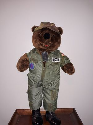 1989 Bear Force of America 20 inch Army Military Plush Teddy Bear Toy Camo Boots for Sale in Elyria, OH