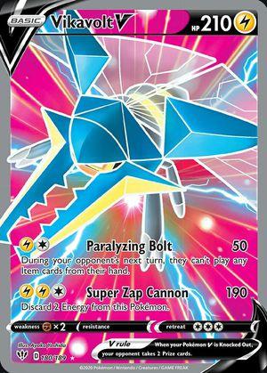 Vikavolt V 180/189 Darkness Ablaze Ultra Rare MINT Pokemon Card for Sale in Tomball, TX
