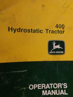 John Deer 400 Manual for Sale in Valparaiso,  IN