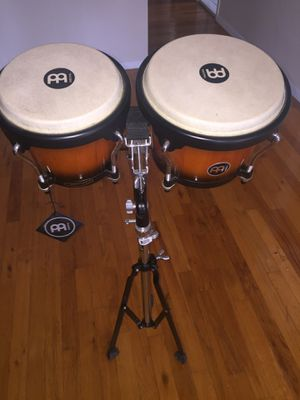 MEINL BONGO DRUM SET (BONGOS AND STAND) for Sale in Queens, NY