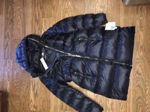 new womens Michael kors black coat size (L) for Sale in Washington, DC
