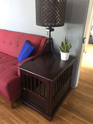 Espresso Dog Crate / Side Table for Sale in San Diego, CA