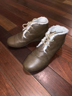 TOM's boots / booties with wedge heel size 2.5Y for Sale in Miami, FL