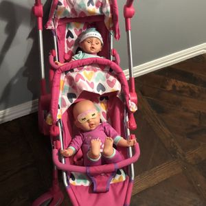 Double Stroller And Twin Babies for Sale in Irving, TX