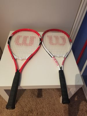 wilson federer tennis- 2 rackets for Sale in Irving, TX