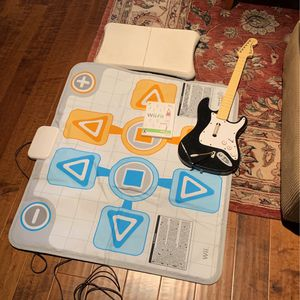 Wii Balance Board, Guitar And Dance Mat for Sale in Huntington Beach, CA