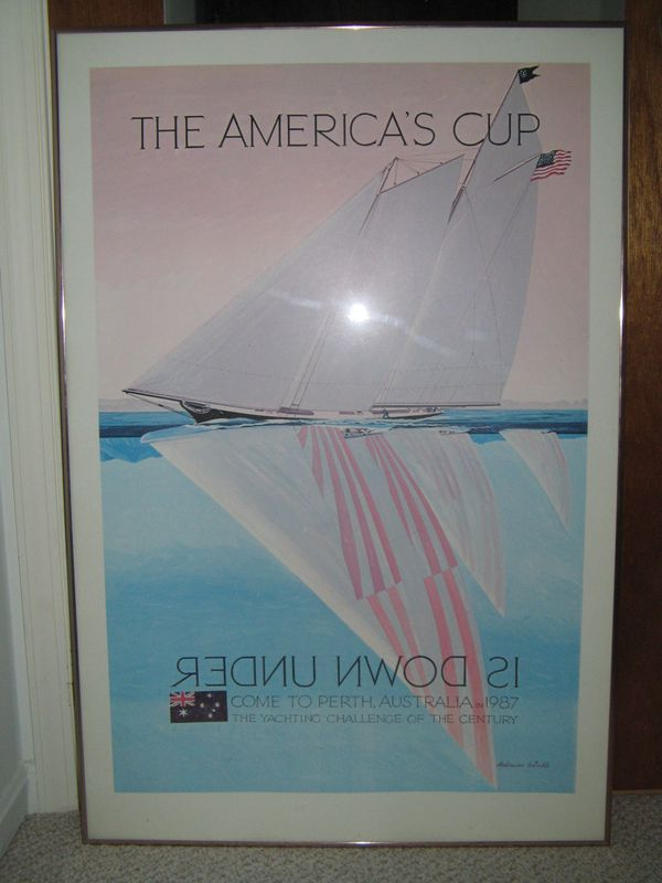 The America's Cup Is Down Under framed poster