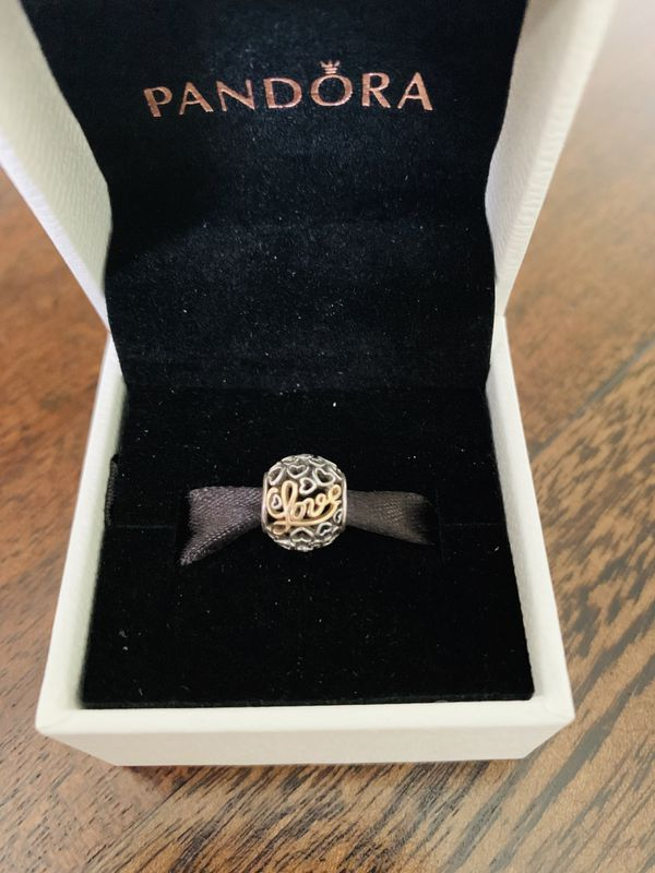PANDORA Charm (Sterling silver and 14k gold)