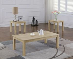 3pc coffee end table set beige/light sand color for Sale in Walnut, CA