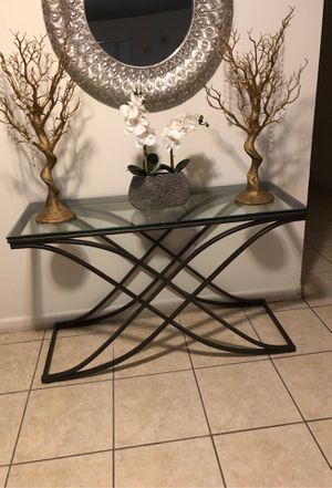 Console table entry table tv table for Sale in Fort Lauderdale, FL