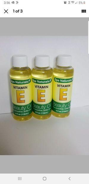 Spa Naturals Vitamin E Beauty Oil 4 oz, BONUS 3-pack! for Sale in Montrose, CO