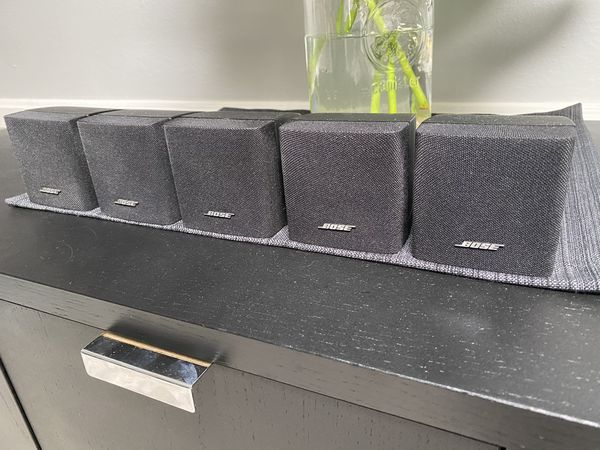 Set 5 Bose Single Cube Speakers