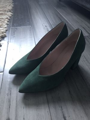 Green suede pumps, size 37 (US 6.5) for Sale in Alexandria, VA