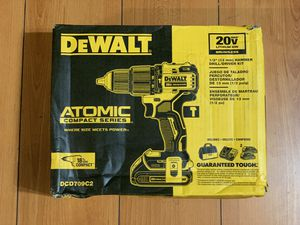 DEWALT ATOMIC 20-Volt MAX Lithium-Ion Cordless Brushless 1/2 in. Compact Hammer Drill Kit DCD709C2 for Sale in Anaheim, CA