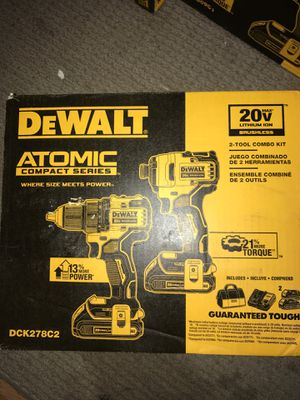 Dewalt 20v ATOMIC brushless compact series driver/impact combo kit for Sale in Antioch, CA