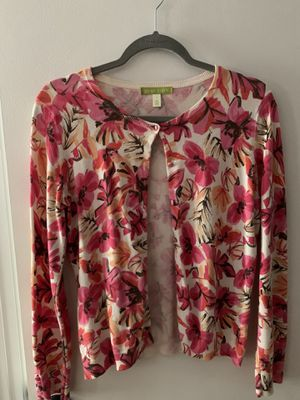 Pink, Orange, Brown & White Floral Cardigan (Size: Small) for Sale in New Milford, CT