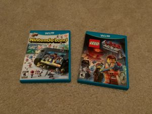 Wii U bundle: Nintendo land and LEGO movie video game! (Both used) for Sale in Longwood, FL