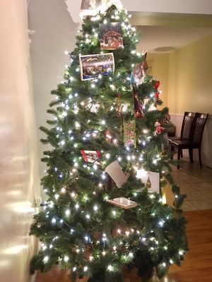 7ft Artificial Christmas Tree with Lights for Sale in Manassas, VA
