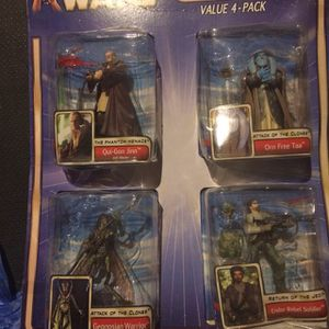 Star Wars Attack Of The Clones 4 Pack Action Figures for Sale in Rockville, MD