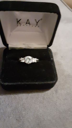 Beautiful sterling silver white sapphires ring for Sale in Prairie City, IA
