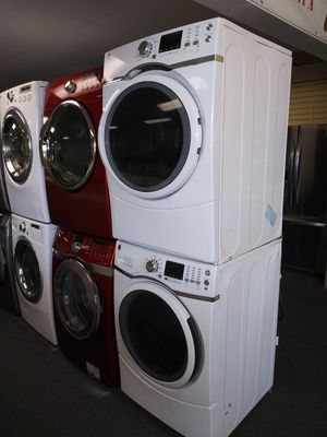 GE new scratch and dent electric front load set washer and dryer 6months warranty for Sale in Laurel, MD