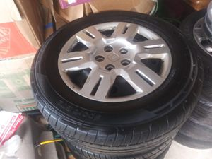 4 rims with tires bolt pattern 5x120 for Sale in Needham, MA