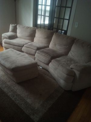 Tan sectional couch for Sale in Murfreesboro, TN