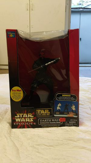 Vintage 1999 Darth Maul Episode I Talking Bank for Sale in Chico, CA