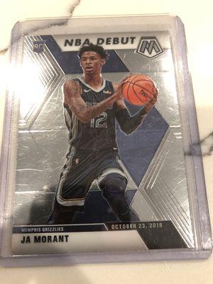 Ja morant 2 card lot mosiac debut/ panini for Sale in Rancho Cucamonga, CA