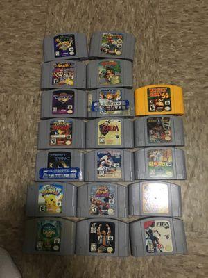 N64 Games, Smash bros, Mario Kart, Mario Party 2, Rampage, Zelda, Pokémon, Donkey Kong, Perfect Dark, Diddy Kong, Blitz, Glover for Sale in Stickney, IL