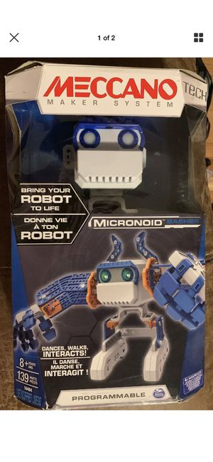 MECCANO Tech Maker System Micronoid BLUE BASHER ROBOT NEW SEALED for Sale in Colchester, CT