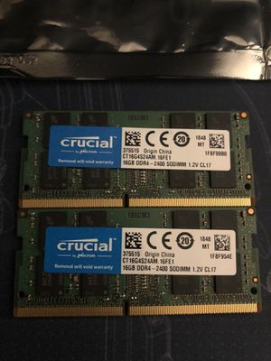 Crucial 32gb DDR4 kit! 2x16gb sticks. for Sale in Seattle, WA