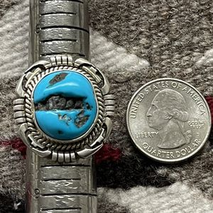 Sleeping Beauty Turquoise Ring Navajo Native American for Sale in Tempe, AZ
