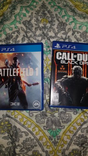 Ps4 call of duty 3 and battlefield for Sale in Miami, FL