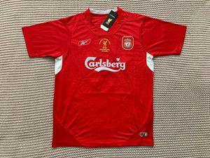 Steven Gerrard Liverpool FC Brand New Men's Home Red Retro Vintage Champions League 2005 Final Soccer Jersey - Size M / L / XL for Sale in Chicago, IL