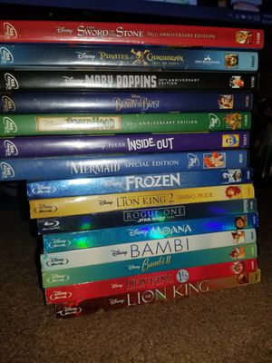 Disney Movies (Listed below) for Sale in Baton Rouge, LA