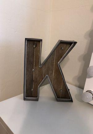 Light up giant K decoration for room for Sale in Lemon Grove, CA