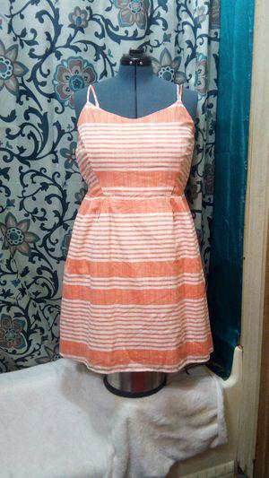 OLD NAVY fit n flare sundress. Orange/Salmon & white stripes. Size XL, plus size. for Sale in Richardson, TX